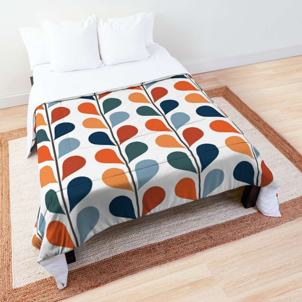 Retro style leaves pattern Comforter