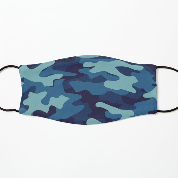 Blue Camouflage Kids Mask