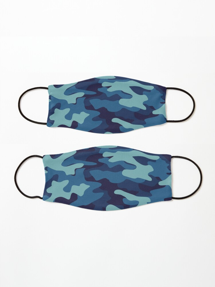 Alternate view of Blue Camouflage Mask
