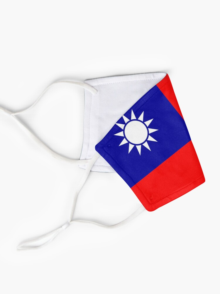 Alternate view of Taiwan flag Taiwan Mask