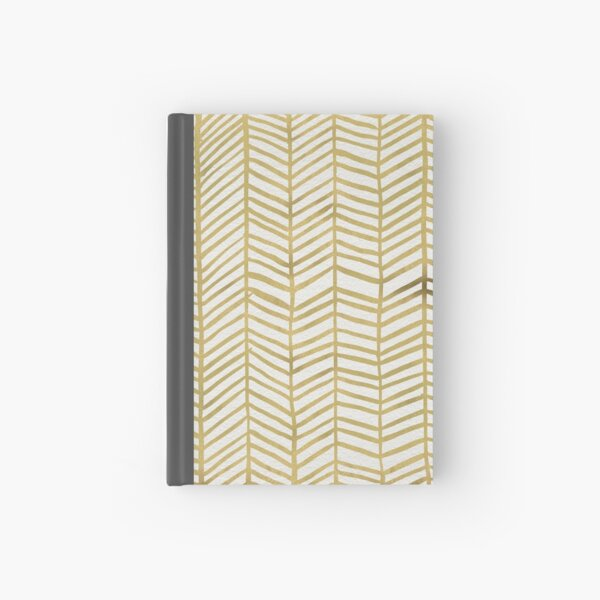Gold Herringbone Hardcover Journal