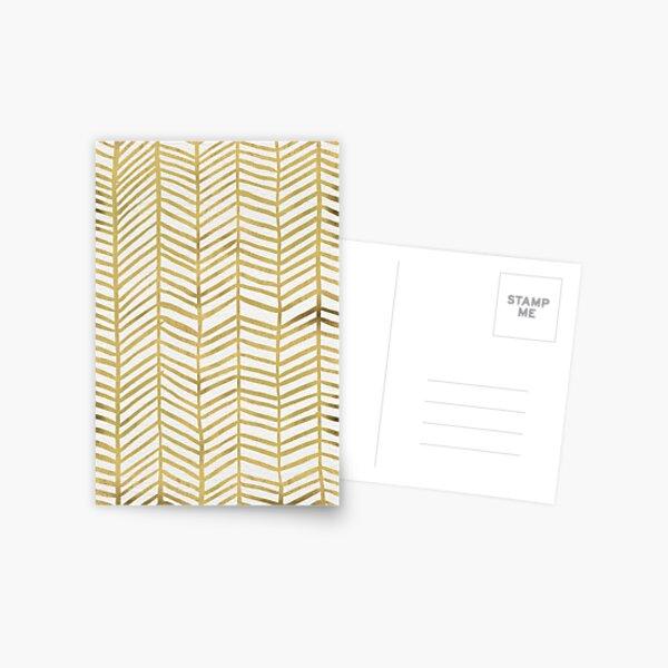 Gold Herringbone Postcard