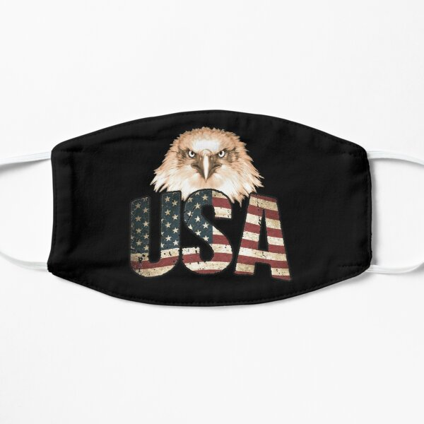 USA American Flag Eagle, Patriotic 4th of July America Flat Mask