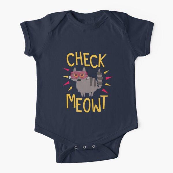 Überprüfen Sie Meowt Baby Body Kurzarm