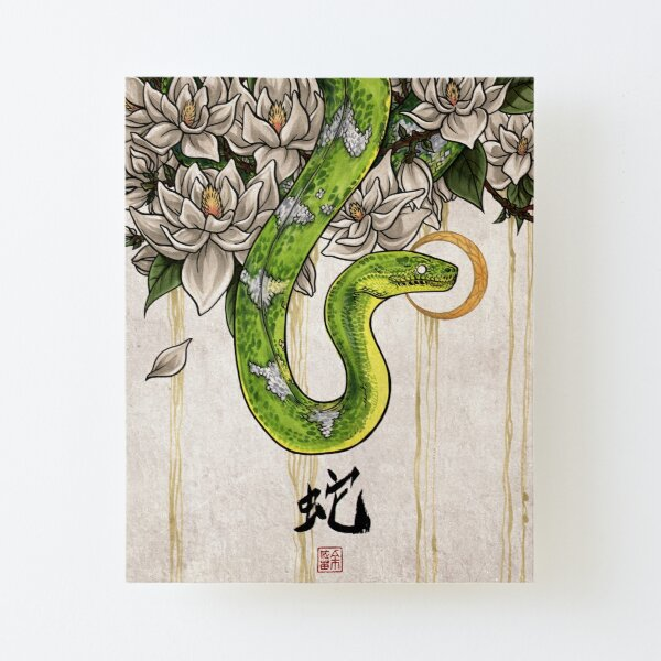 Snake Canvas Mounted Print