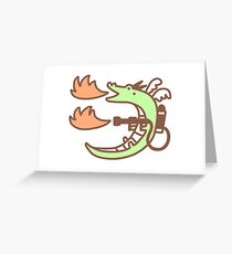 Dragon With A Flamethrower Greeting Card
