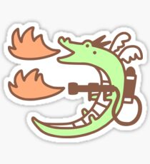 Dragon With A Flamethrower Sticker