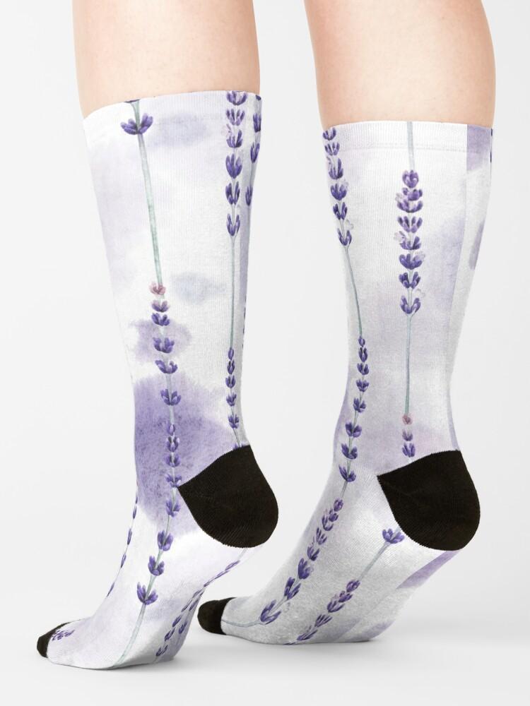 Alternate view of Watercolor lavender Socks