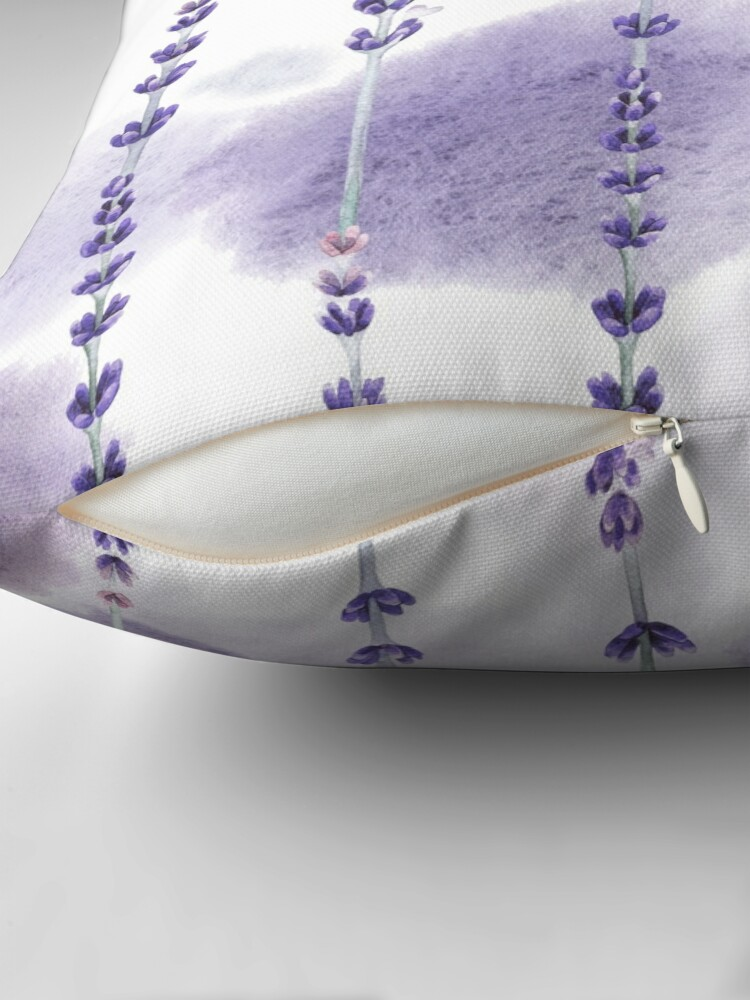 Alternate view of Watercolor lavender Floor Pillow