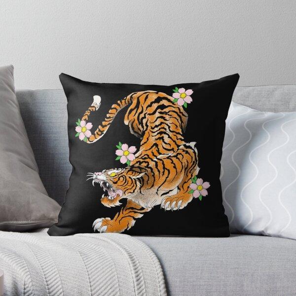 tiger japan old school Throw Pillow