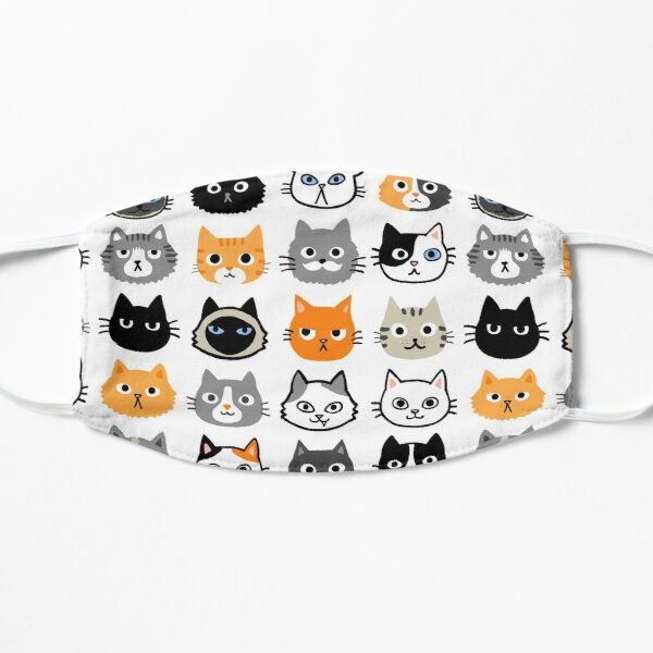 Assorted Cat Faces   Cute Quirky Kitty Cat Drawings Mask