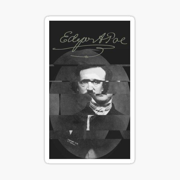 The glitch of Edgar Allan Poe Sticker
