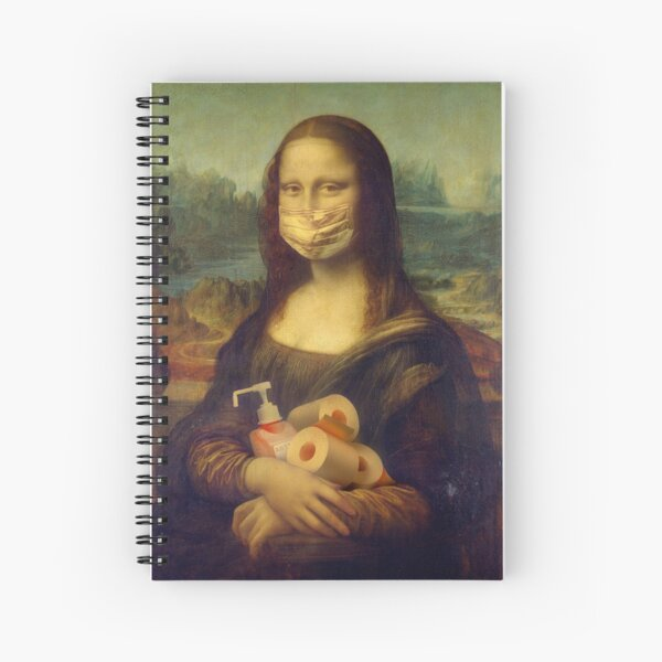 covid 19 epidemic comic by mona Lisa Spiral Notebook
