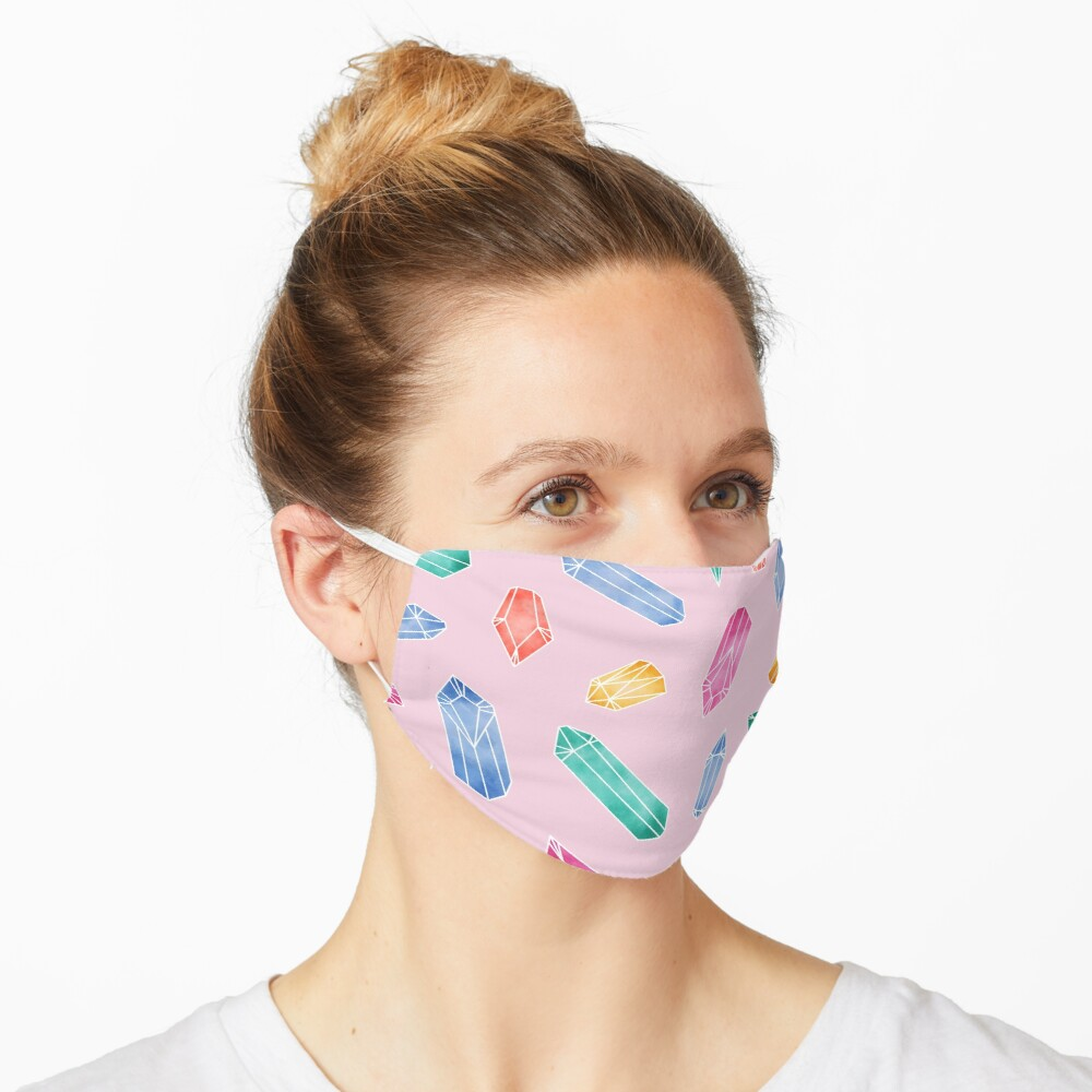 Crystals Pattern - Candy Pink Mask