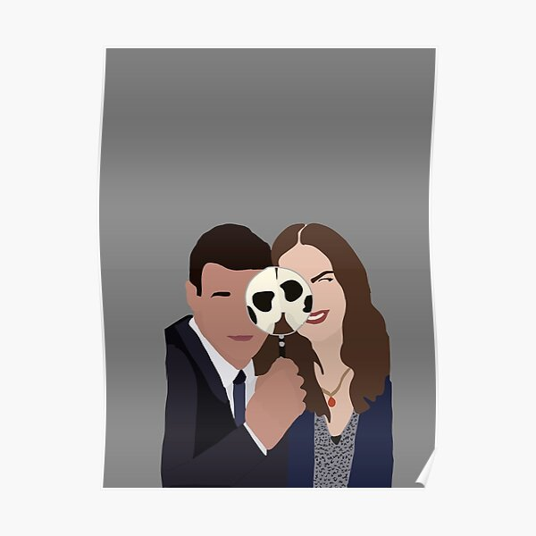 Minimalist Temperance Brennan and Seeley Booth Poster