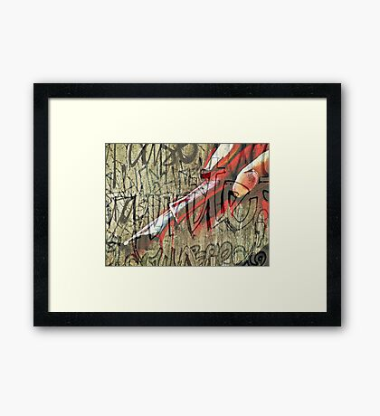 I have seen the writing on the wall Framed Print