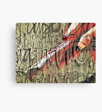 I have seen the writing on the wall Canvas Print