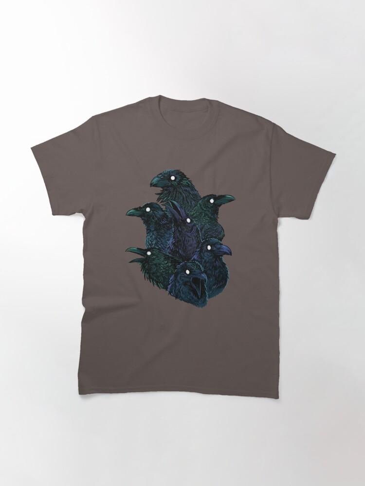 Alternate view of Raven pattern Classic T-Shirt