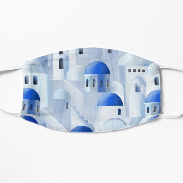 Santorini island in the Greece Flat Mask