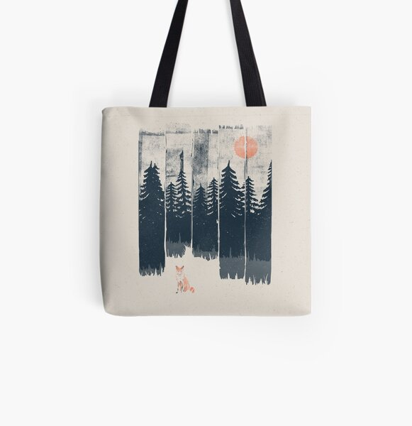 A Fox in the Wild... All Over Print Tote Bag