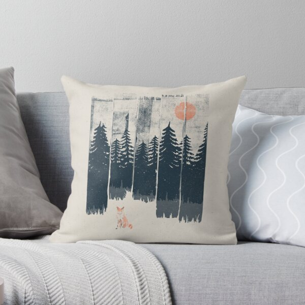 A Fox in the Wild... Throw Pillow
