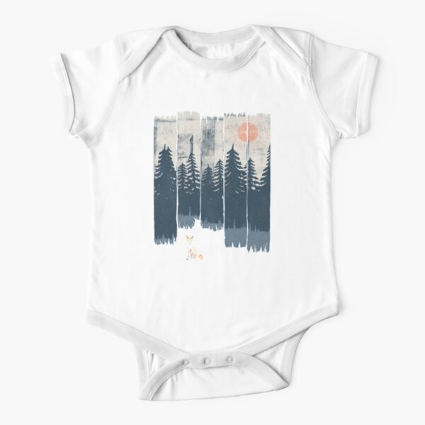 A Fox in the Wild... Short Sleeve Baby One-Piece