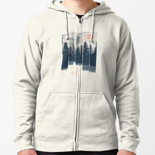 A Fox in the Wild... Zipped Hoodie