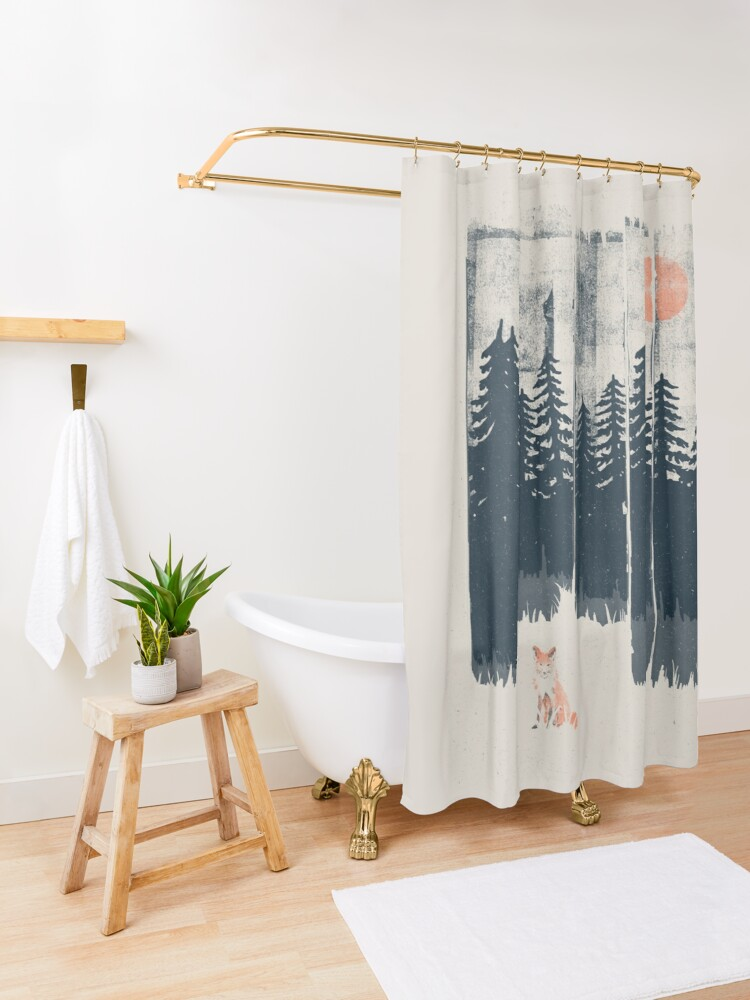 Alternate view of A Fox in the Wild... Shower Curtain