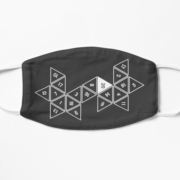 Unrolled D20 Flat Mask