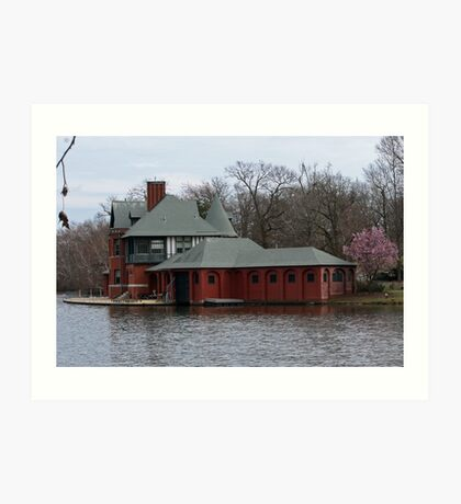 Boathouse at Roger Williams Park Art Print