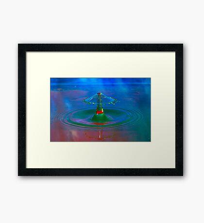 Blue Mushroom  Framed Print