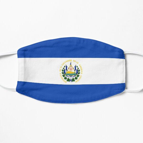 Bandera de el salvador Mascarilla plana