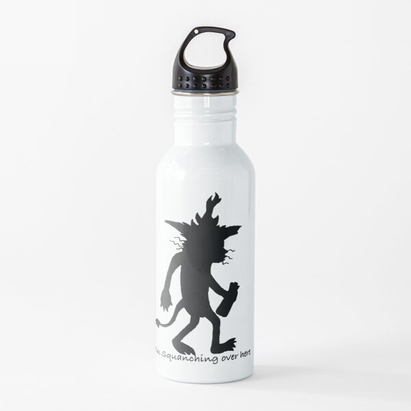 Squanchy Silohette   Water Bottle