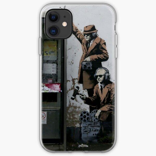 Banksy Telephone Box iPhone Soft Case