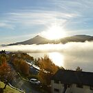Schiehallion in the mist by Kirsty Auld