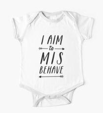 Ziel, sich schlecht zu benehmen | Weiß Baby Body Kurzarm
