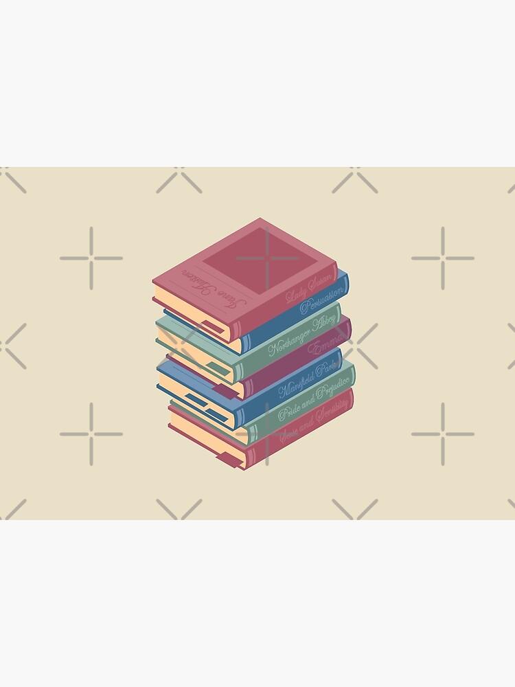 Jane Austen novels pile of books by PrintablesP