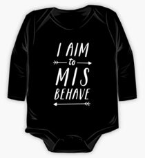 Aim To Misbehave | Black One Piece - Long Sleeve