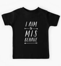 Aim To Misbehave | Black Kids Clothes