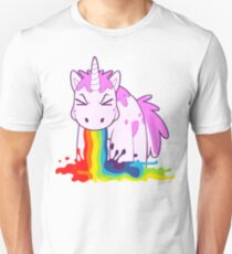 """Einhorn """"Ich Kotze Rainbows!"""" Unisex T-Shirt"""
