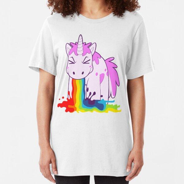 Unicorn 'I Puke Rainbows!' Slim Fit T-Shirt