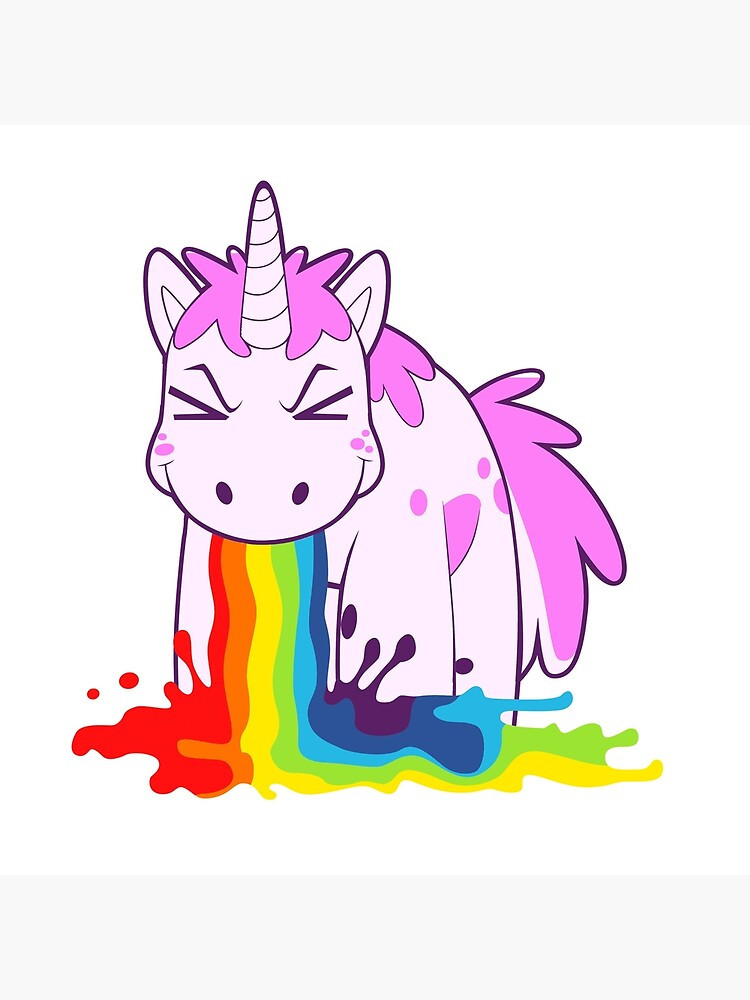 Unicorn 'I Puke Rainbows!' by philosotee