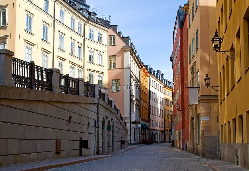 Stockholm, Old Town street. by cloud7