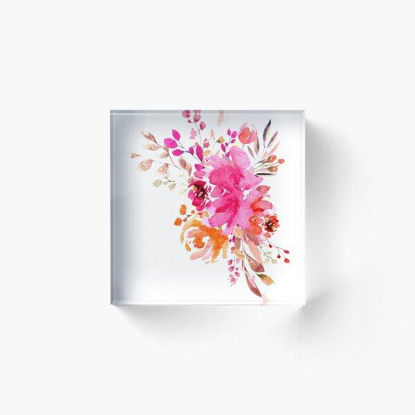 Watercolor Bouquet Acrylic Block