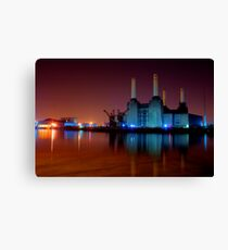Battersea power station night shot Canvas Print
