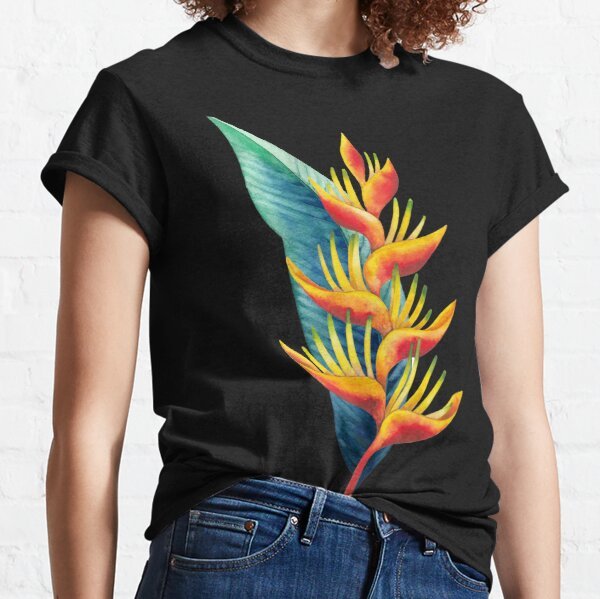 Watercolor heliconia Classic T-Shirt