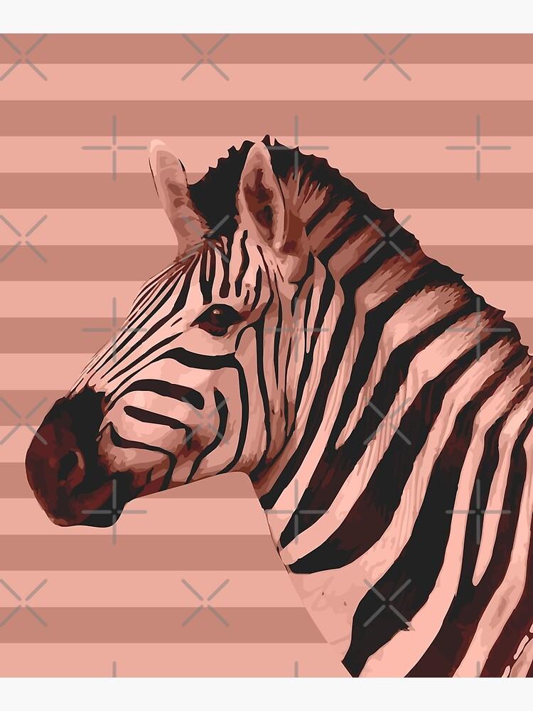 [Animals & Stripes] Peach zebra by PrintablesP