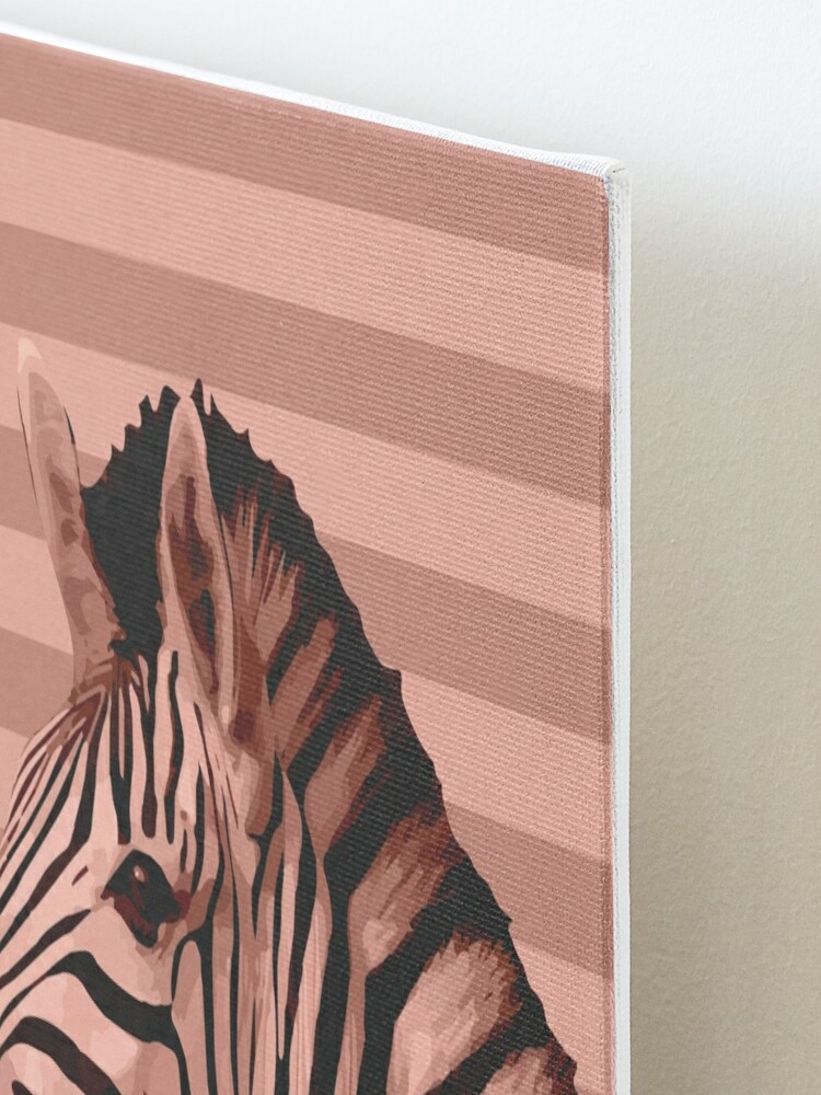 Alternate view of [Animals & Stripes] Peach zebra Mounted Print