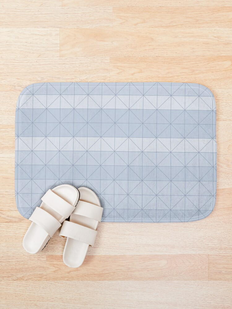 Alternate view of Geometric pattern light blue Bath Mat