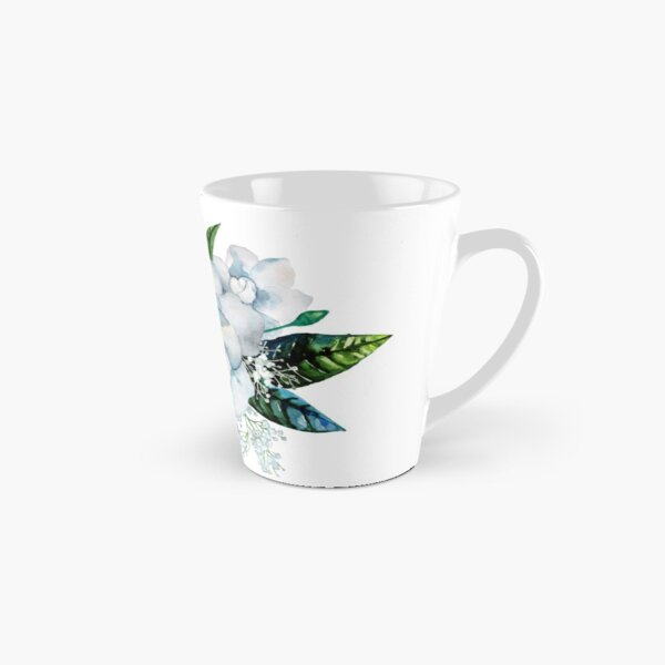 Watercolor gardenia and gypsophila vignette Tall Mug